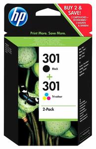 HP 301 Druckerpatronen, Schwarz & Farbe