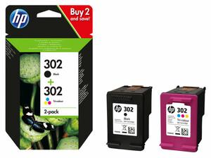 HP 302 Druckerpatronen, Schwarz & Farbe