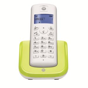 Motorola Digitales schnurloses Telefon T201 Single-DECT, lemon