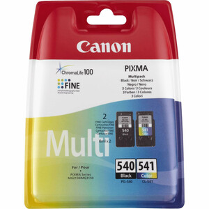 Canon PG-540 + PG-541 Druckerpatronen, Schwarz & Farbe