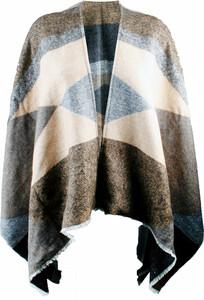 True Style Damen Web-Poncho, camel-jeans