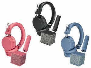 SILVERCREST® Technik Geschenkset Kopfhörer, Lautsprecher & Powerbank
