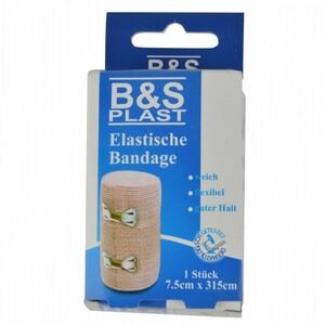 Bandage elastisch mit Clip 7,5x115cm braun