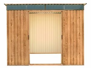 tepro Metallgerätehaus Pent Roof Skylight 8x6 Holz-Dekor Eiche
