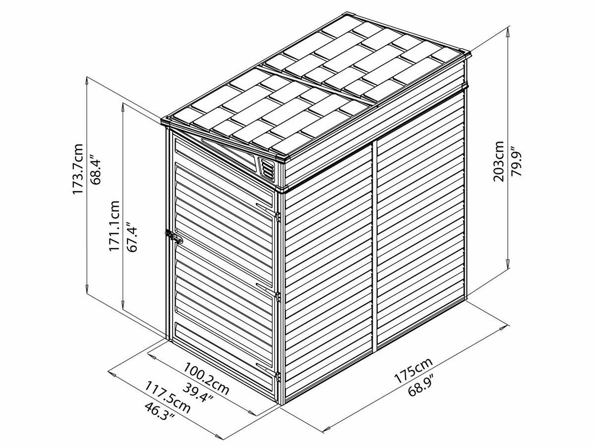 Bild 3 von PALRAM Anlehnbares Kunststoff-Gerätehaus Skylight