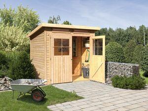 Karibu Locarno 3 SET Pultdach Gartenhaus inkl. Boden und 2 Oberlichtern