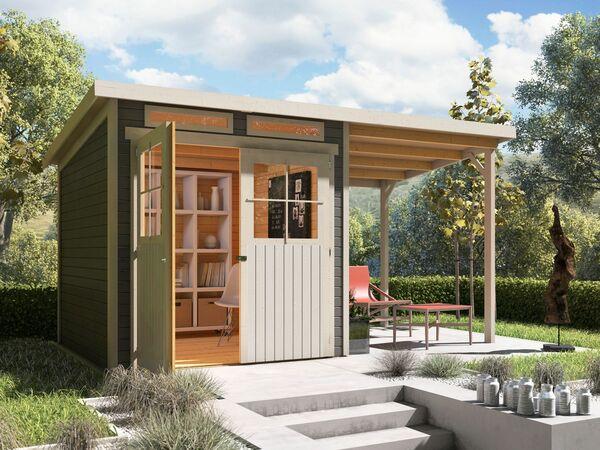 Karibu Locarno 3 Set Pultdach Gartenhaus Inkl Seitlichem Anbau Von Lidl Ansehen