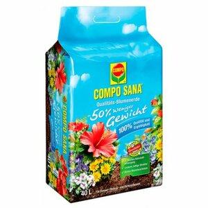 Compo Qualitäts-Blumenerde ca. 50 Prozent weniger Gewicht 1 x 40 l