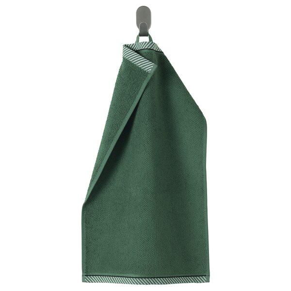 VIKFJÄRD                                Gästehandtuch, grün, 30x50 cm