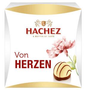 """HACHEZ             Kleine Aufmerksamkeit """"Von Herzen"""", mit Alkohol 40g"""