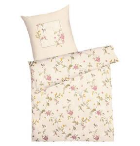 "kaeppel             Bettwäschegarnitur ""Birdy"", 100% Baumwolle, florales Muster, Print, Mako-Satin"