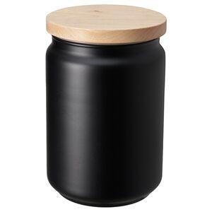EKLATERA                                Dose mit Deckel, schwarz, 1 l