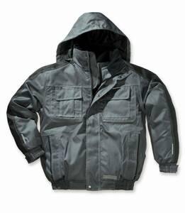 Blouson, winddicht und wasserabweisend,Farbe grau/schwarz