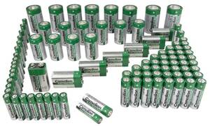 Zink-Kohle-Batterien 98-teiliges Sparset Camelion