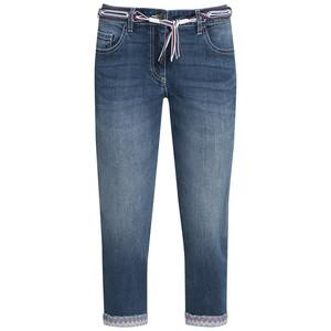3/4 Damen Jeans mit Bindegürtel
