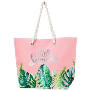 Damen Strandtasche mit glänzendem Schriftzug