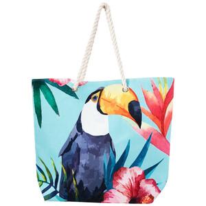Damen Strandtasche mit Tukan-Motiv