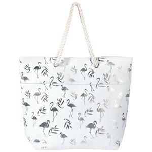 Damen Strandtasche mit Flamingo-Motiv
