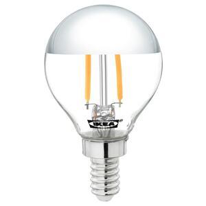 SILLBO                                LED-Leuchtmittel E14 140 lm, rund, kopfverspiegelt silberfarben, 45 mm