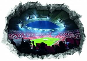 FC Bayern München 3-D Wandtattoo ,  Holen Sie sich echte Stadion-Atmosphäre in Ihr Wohnzimmer!