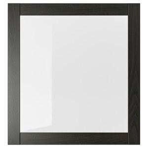SINDVIK                                Vitrinentür, schwarzbraun, Klarglas, 60x64 cm