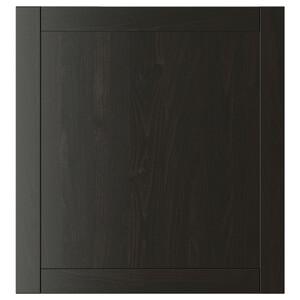 HANVIKEN                                Tür, schwarzbraun, 60x64 cm