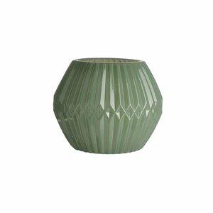 Windlicht GRAFIK, D:15cm x H:12cm, mintgrün