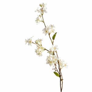Zweig Kirschblüte, L:75cm, weiß