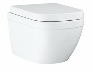GROHE Wand-Tiefspül-WC Euro Keramik ,  weiß,spülrandlos, inkl. WC-Sitz