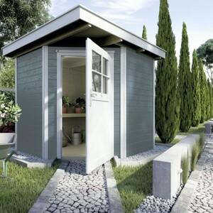 Weka Gartenhaus Nantje Gr.1 ,  Wandstärke 21 mm, 209 x 205 cm