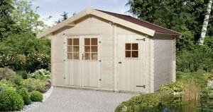 Weka Gartenhaus Vergard Gr.1 ,  Wandstärke 21 mm, 209 x 205 cm