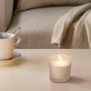 SINNLIG                                Kerze im Glas, duftneutral, Herz, weiß, 9 cm