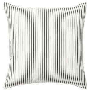 INGALILL                                Kissenbezug, weiß, dunkelgrau gestreift, 50x50 cm