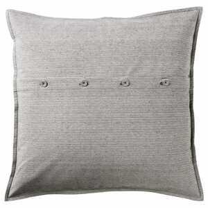 KRISTIANNE                                Kissenbezug, weiß, dunkelgrau gestreift, 50x50 cm