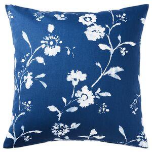 BLÅGRAN                                Kissenbezug, blau, weiß, 50x50 cm