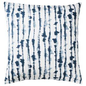 STRIMSPORRE                                Kissenbezug, weiß, blau, 50x50 cm