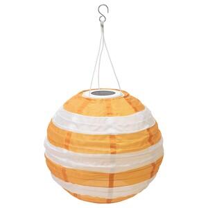 SOLVINDEN                                Solarhängeleuchte, LED, für draußen rund, gestreift gelb, 30 cm