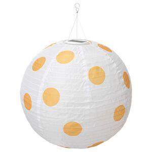 SOLVINDEN                                Solarhängeleuchte, LED, für draußen rund, gepunktet gelb, 70 cm