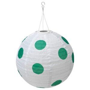 SOLVINDEN                                Solarhängeleuchte, LED, für draußen rund, gepunktet grün, 45 cm