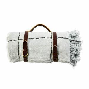 Picknickdecke Check, B:130cm x L:170cm, mintgrün
