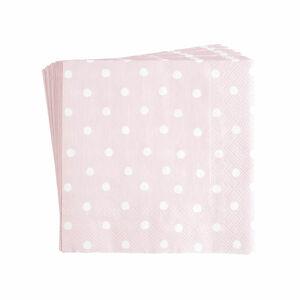 Serviette Punkte, FSC® Mix, 20 Stück, rosa
