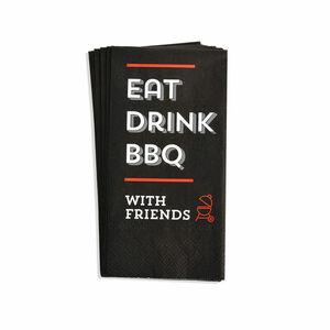 Bistroserviette BBQ, FSC® Mix, 12 Stück, schwarz