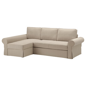 BACKABRO                                Bettsofa/Recamiere, Hylte beige