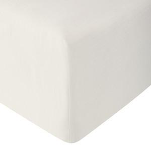 Linon-Spannbettlaken (100x200, beige)