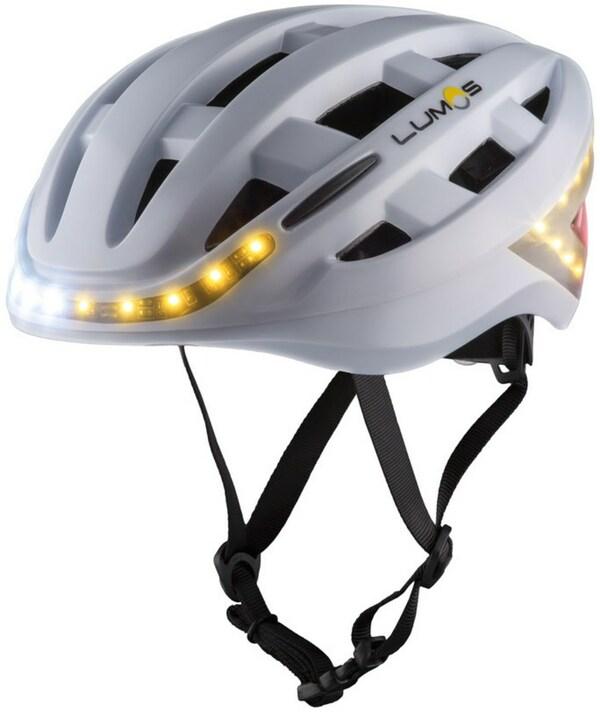 Lumos Kickstart Fahrradhelm pearl white