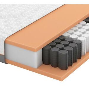 Schlaraffia GEL-TASCHENFEDERKERNMATRATZE Quantum 200 TFK 90/200 cm 20 cm, Weiß
