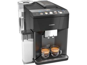 SIEMENS TQ505D09 EQ.500 integral, Kaffeevollautomat, 1.7 Liter Wassertank, 15 bar, Saphirschwarz metallic/Klavierlack Schwarz