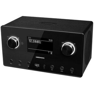 "MEDION LIFE® P85080 WLAN Stereo Internetradio, 15.000 Internet Radiosender, DAB+ Empfänger, 3,5"" Display, Steuerung durch App"