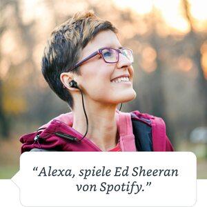 MEDION LIFE® S62024 Alexa Bluetooth® In-Ear-Kopfhörer, Steuerbar mit der Stimme, Freisprechfunktion, 4 Std. Musikspielzeit