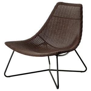 RÅDVIKEN                                Sessel, dunkelbraun, schwarz